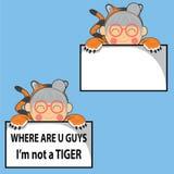 смешной тигр Стоковое Изображение