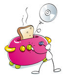 смешной тостер Стоковая Фотография