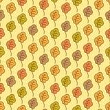 Смешной дуб осени покидает безшовная картина Стоковое Изображение