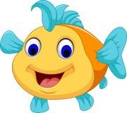 Смешной усмехаться шаржа рыб бесплатная иллюстрация