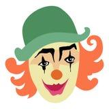Смешной, усмехаясь клоун Стоковые Фотографии RF