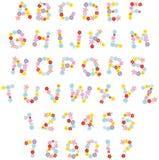 Смешной флористический шрифт Стоковые Фотографии RF
