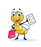 Смешной характер мухы дамы Стоковая Фотография RF