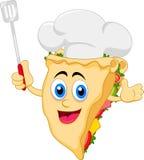 Смешной характер шеф-повара сандвича шаржа иллюстрация вектора