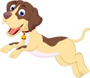 Смешной ход шаржа собаки иллюстрация вектора