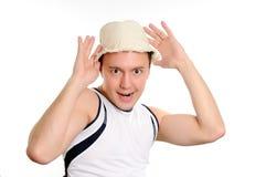 смешной человек шлема Стоковое Фото