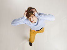Смешной человек yung Стоковое фото RF