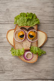Смешной человек сандвича стоковое изображение