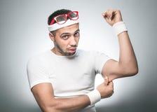 Смешной человек спорта Стоковые Фотографии RF