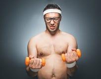 Смешной человек спорт Стоковые Фотографии RF
