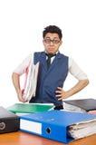 Смешной человек с сериями папок Стоковая Фотография RF