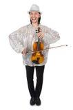 Смешной человек с скрипкой Стоковая Фотография RF