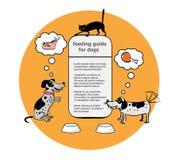 Смешной шаблон для рациона собаки Стоковые Фотографии RF