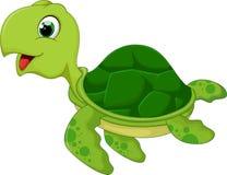 Смешной шарж морской черепахи бесплатная иллюстрация