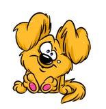 Смешной шарж собаки плюша иллюстрация вектора