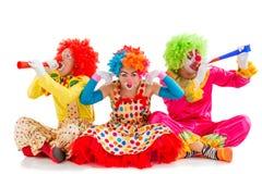 Смешной шаловливый клоун Стоковые Изображения
