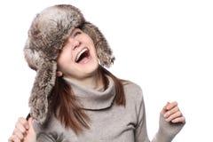 смешной шлем девушки Стоковые Фотографии RF