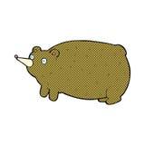смешной шуточный медведь шаржа Стоковые Фотографии RF