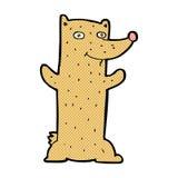 смешной шуточный медведь шаржа Стоковое фото RF