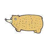 смешной шуточный медведь шаржа Стоковые Изображения RF