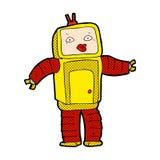 смешной шуточный робот шаржа Стоковая Фотография