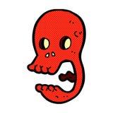 смешной шуточный череп шаржа Стоковое Изображение RF