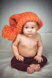 смешной шлем девушки немногая Стоковая Фотография RF