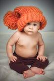 смешной шлем девушки немногая Стоковые Изображения RF