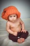 смешной шлем девушки немногая Стоковое Изображение