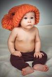 смешной шлем девушки немногая Стоковые Фотографии RF