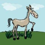 Смешной эскиз лошади Стоковое Изображение