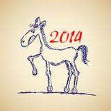 Смешной эскиз лошади Стоковое Изображение RF