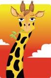 Смешной giraffe иллюстрация вектора