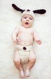 Смешной newborn мальчик Стоковые Изображения RF