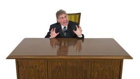 Смешно пугать, устрашено, изолированный бизнесмен страха стоковые изображения