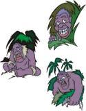 Смешные африканские аборигены Стоковые Изображения RF