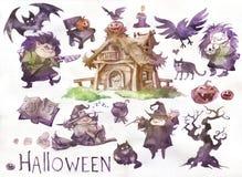 Смешные ведьмы хеллоуина Стоковое Фото