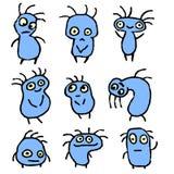 Смешные голубые вещи также вектор иллюстрации притяжки corel Стоковое Изображение RF
