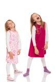 Смешные дети делая сторону Стоковые Изображения
