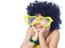 Смешные женщины в влюбленности Стоковые Фотографии RF