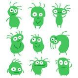 Смешные зеленые плоские вещи также вектор иллюстрации притяжки corel Стоковое Изображение RF