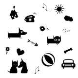 смешные иконы Стоковое Изображение