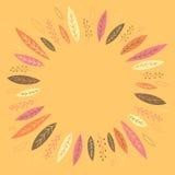 Смешные листья осени формируя венок Стоковое Изображение RF