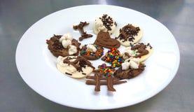 Смешные конфеты шоколада Стоковая Фотография