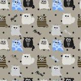 Смешные коты на серой предпосылке Стоковые Фотографии RF