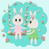 Смешные кролики Стоковые Изображения