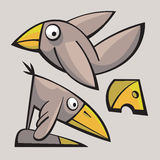 Смешные милые птицы Стоковые Фотографии RF