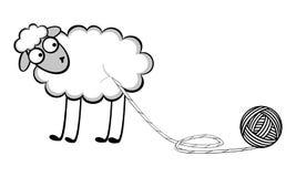 Смешные молодые овцы Стоковое фото RF