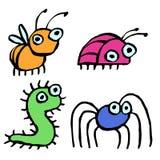 Смешные насекомые шаржа вползая где-то также вектор иллюстрации притяжки corel Стоковая Фотография RF