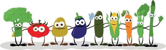 Смешные овощи говоря здравствулте! Стоковое фото RF
